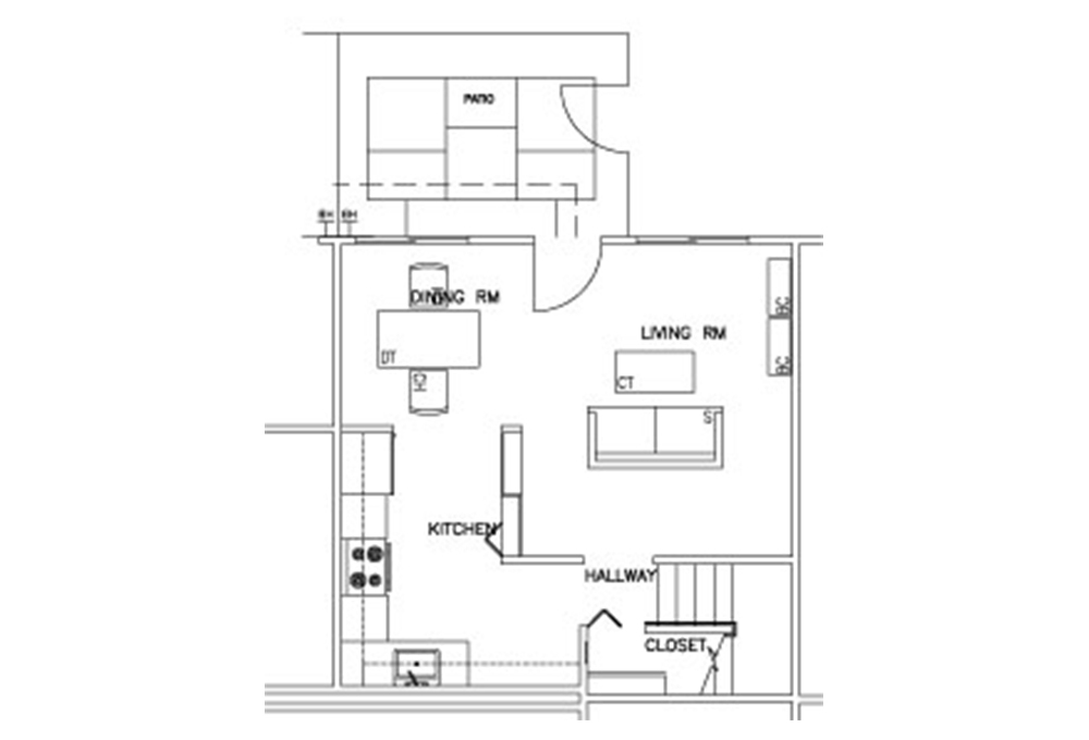 Escondido Lowrise - Two Story - 2-Bedroom - First Floor Floor Plan