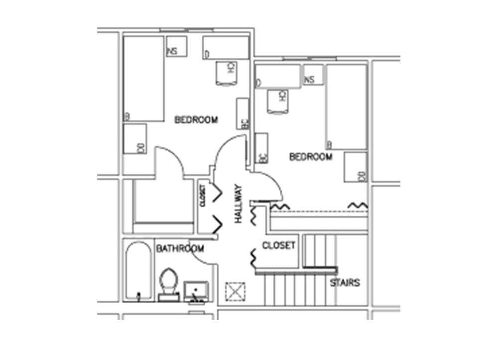 Escondido Lowrise - Two Story - 2-Bedroom - Second Floor Floor Plan