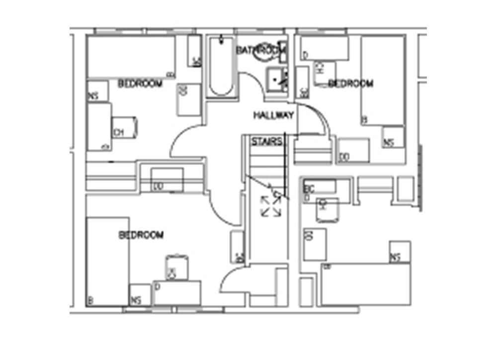 Escondido South - 3-Bedroom - First Floor Floor Plan