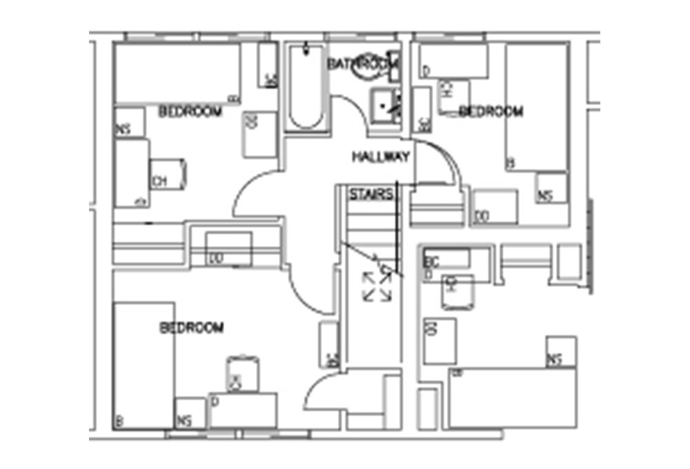 Escondido Lowrise - Two Story - 3-Bedroom - First Floor Floor Plan