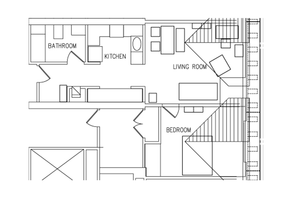 Munger 1-Bedroom Floor Plan