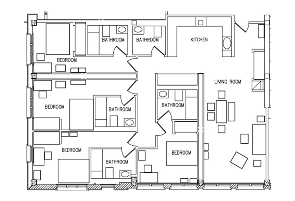 Munger 4 - Bedroom Floor Plan