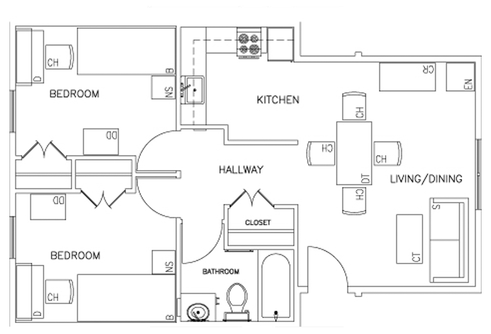 Rains 2-Bedroom Floor Plan