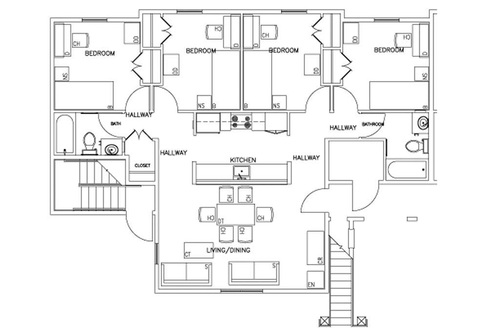 Rains 4-Bedroom Floor Plan