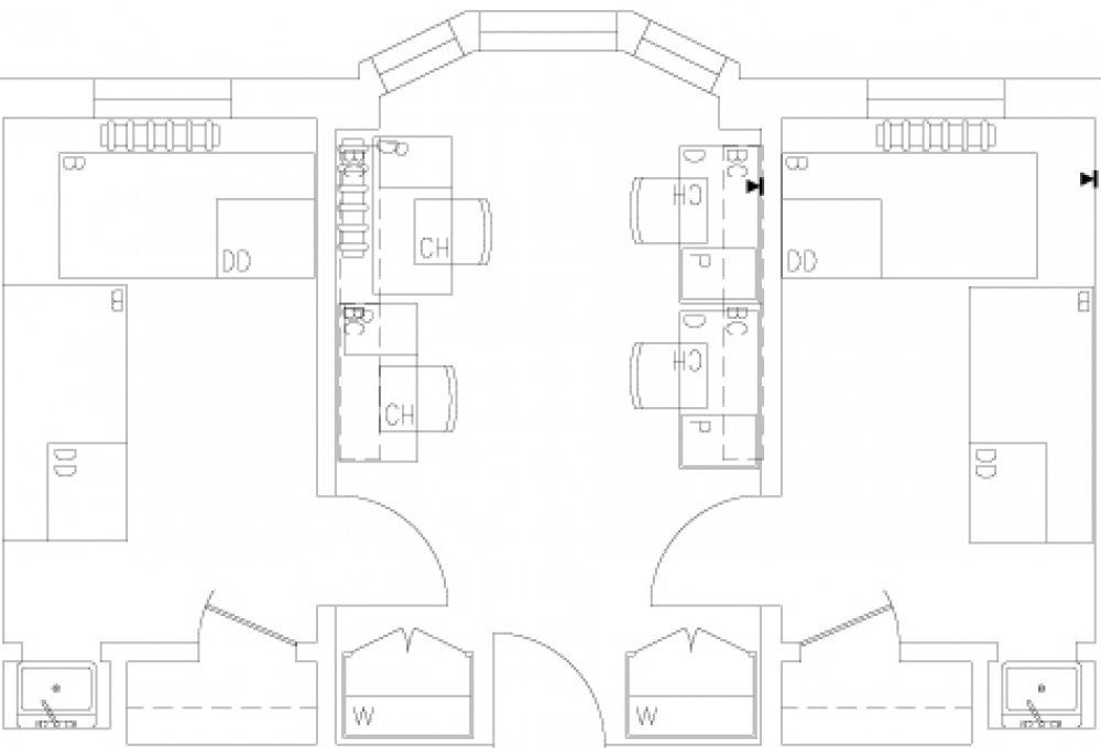 3-room double - Top View
