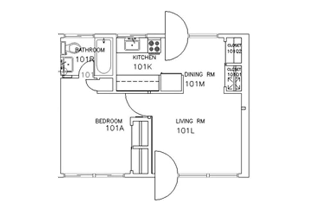Escondido Lowrise - Single Story - 1-Bedroom