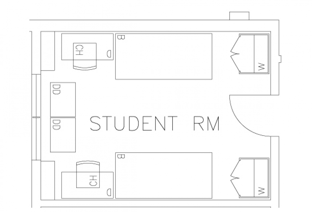 Double Room - Top View