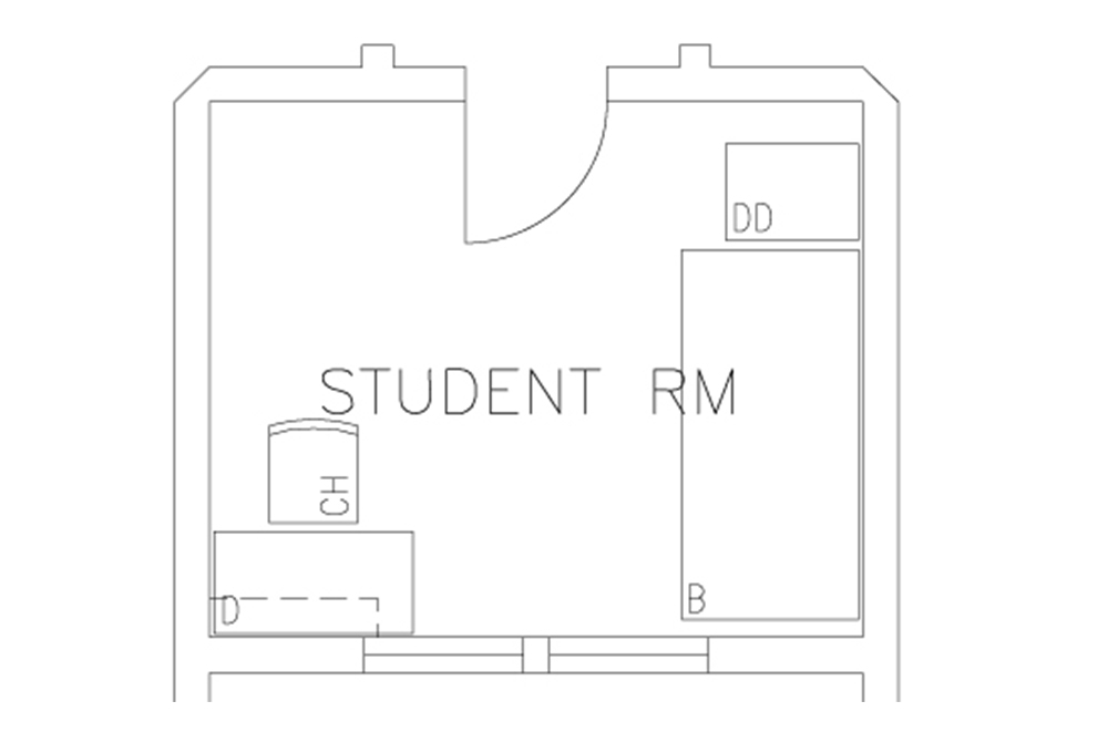 Single room - Top View