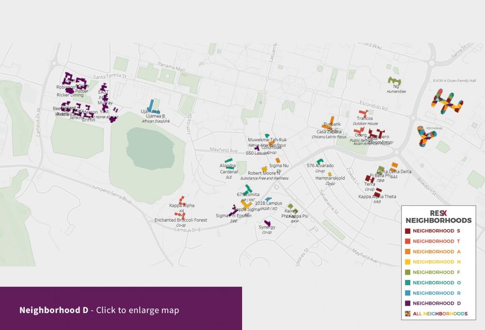 Neighborhood D Theme Houses Map