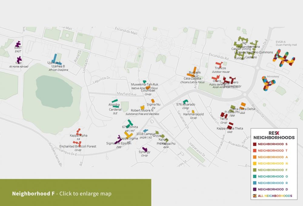 Neighborhood F Theme Houses Map
