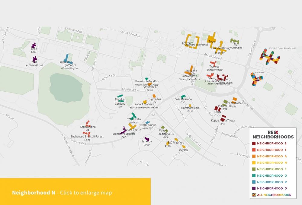 Neighborhood N Theme Houses Map