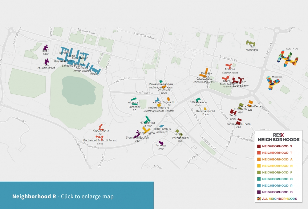 Neighborhood R Theme Houses Map