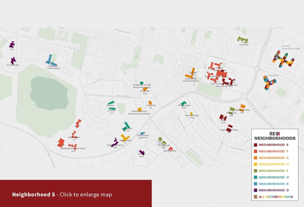 Neighborhood S Theme Houses Map
