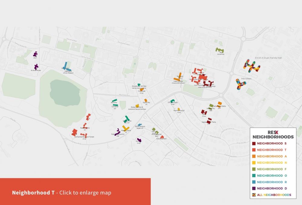 Neighborhood T Theme Houses Map