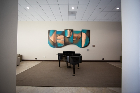 Munger Lounge Area with Piano