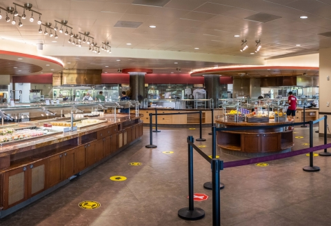 Arrillaga Family Dining Commons Servery, Social Distancing