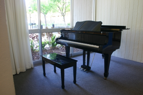 Escondido Village Studios Common Area Piano