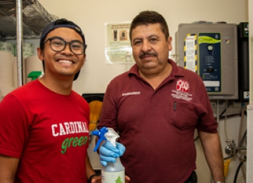 Student with Custodian