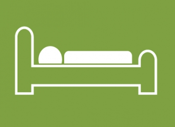 icon of person in bed