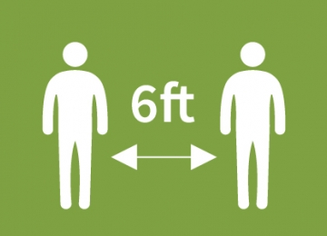 icon of 6ft distance