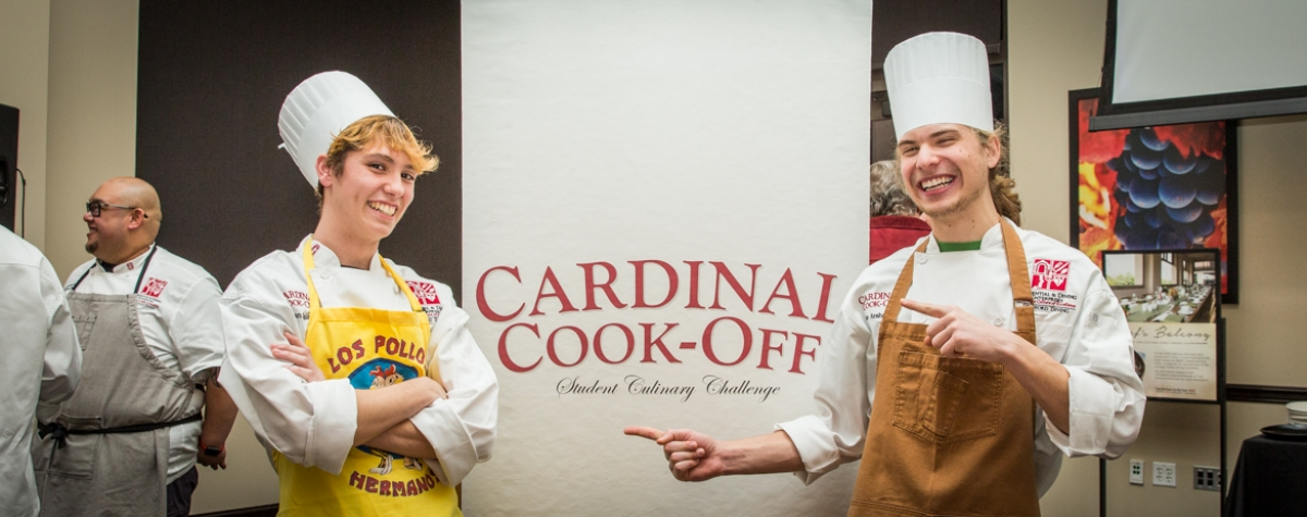 Cardinal Cook-Off Champions Alec Arshavsky & Yvan Quinn