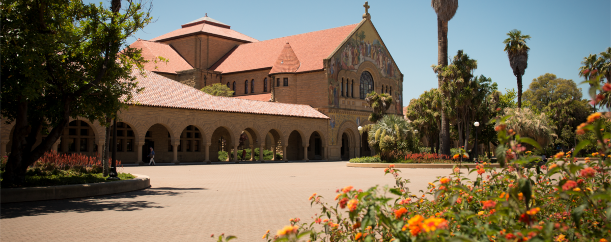 Memorial Church on a hot summer day at Stanford. Photo courtesy of Linda Cicero / University Communications