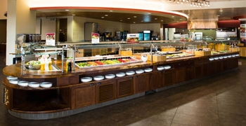 Arrillaga Family Dining Commons servery salad bar